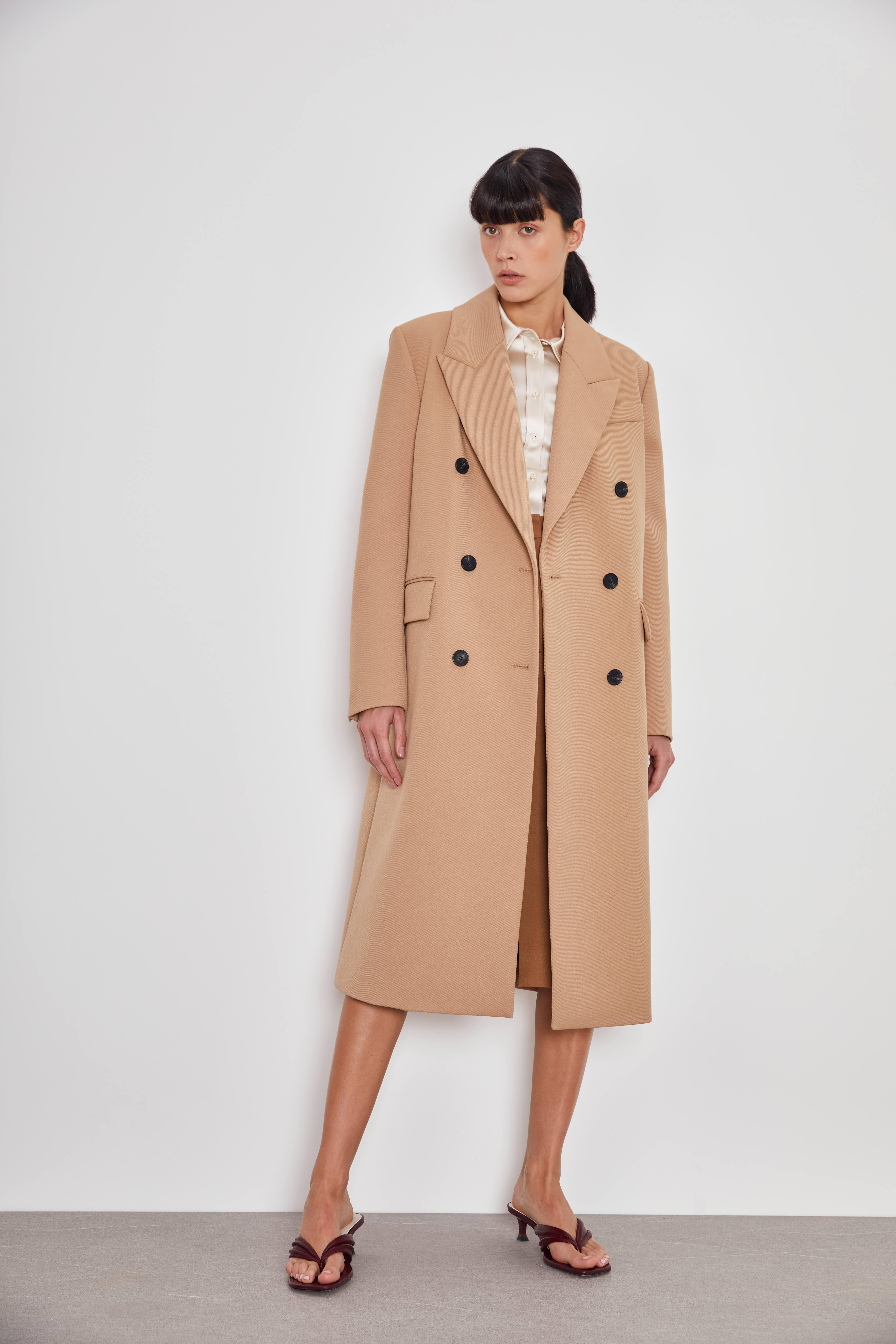 цена Пальто LIME Двубортное пальто прямого кроя онлайн в 2017 году