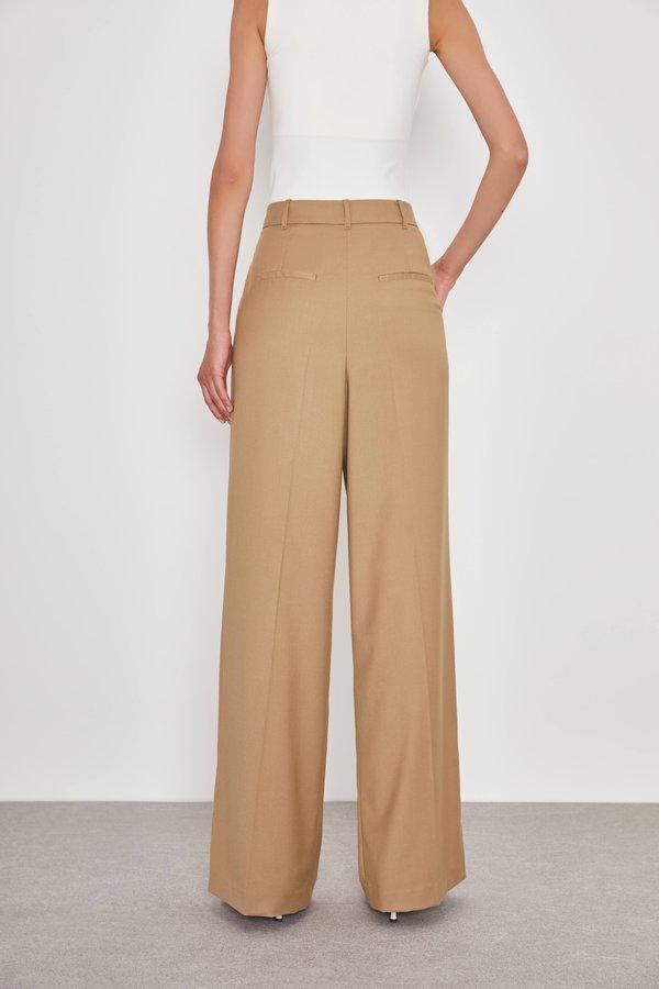 Широкие брюки вид сзади