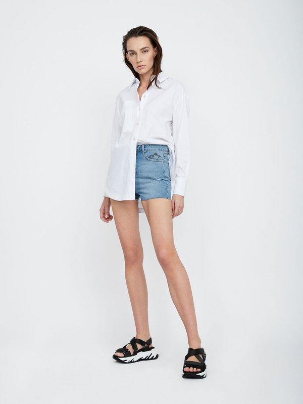 Укороченные шорты с принтом