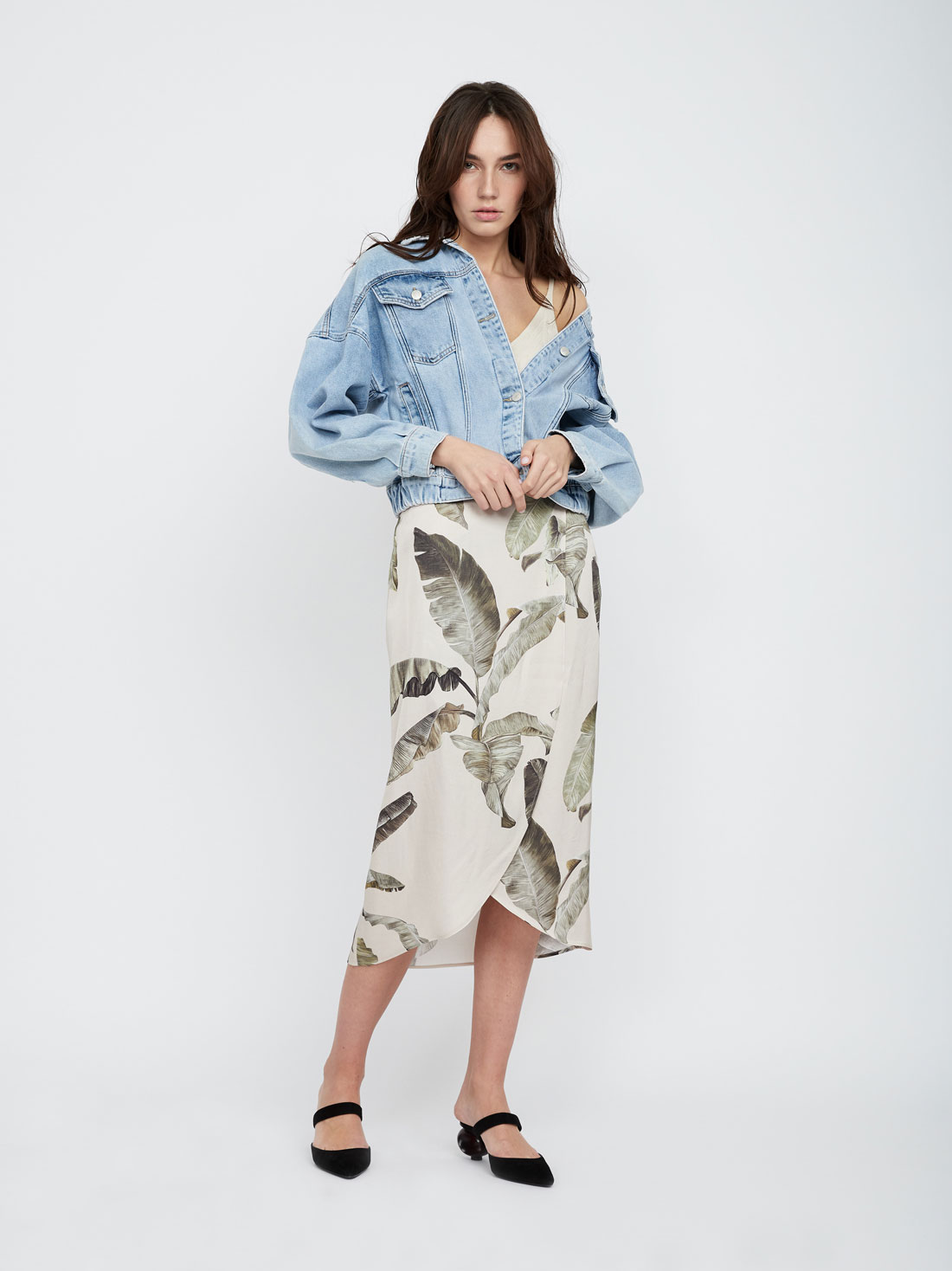 Асимметричная юбка-миди