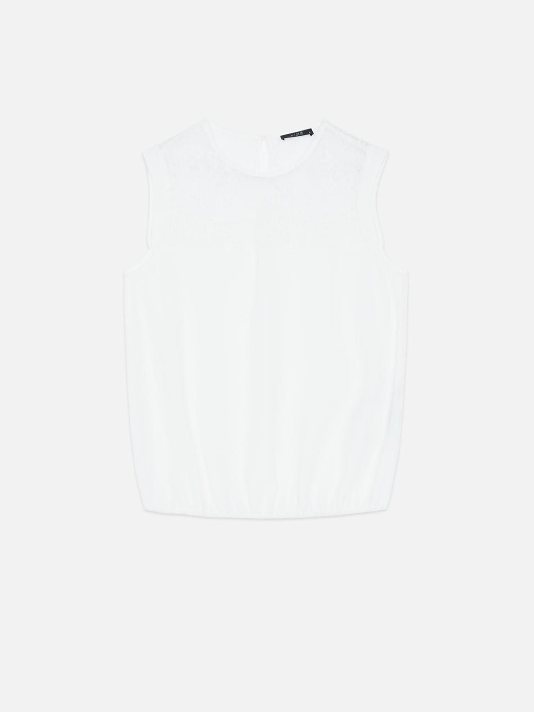 Блузка О-силуэта