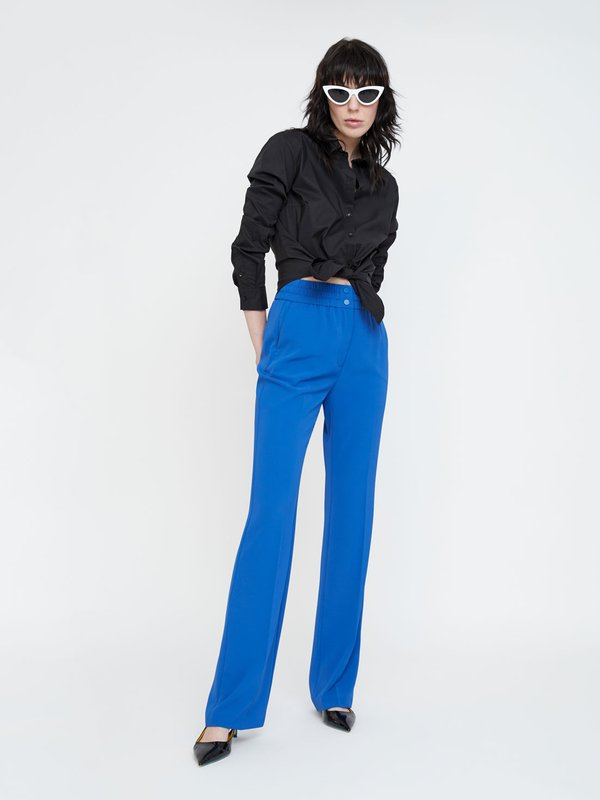 Свободные брюки цвет: синий ультрамарин