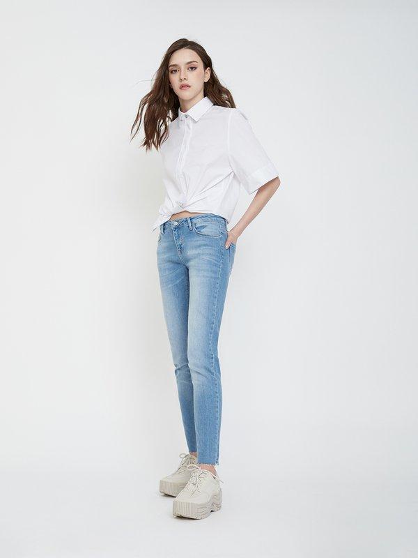 Зауженные джинсы цвет: голубой