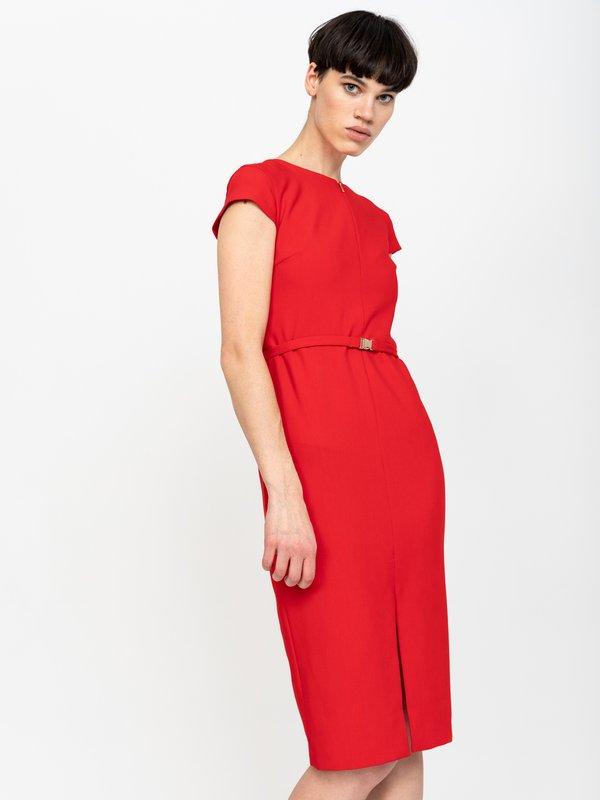 Платье-футляр цвет: красный