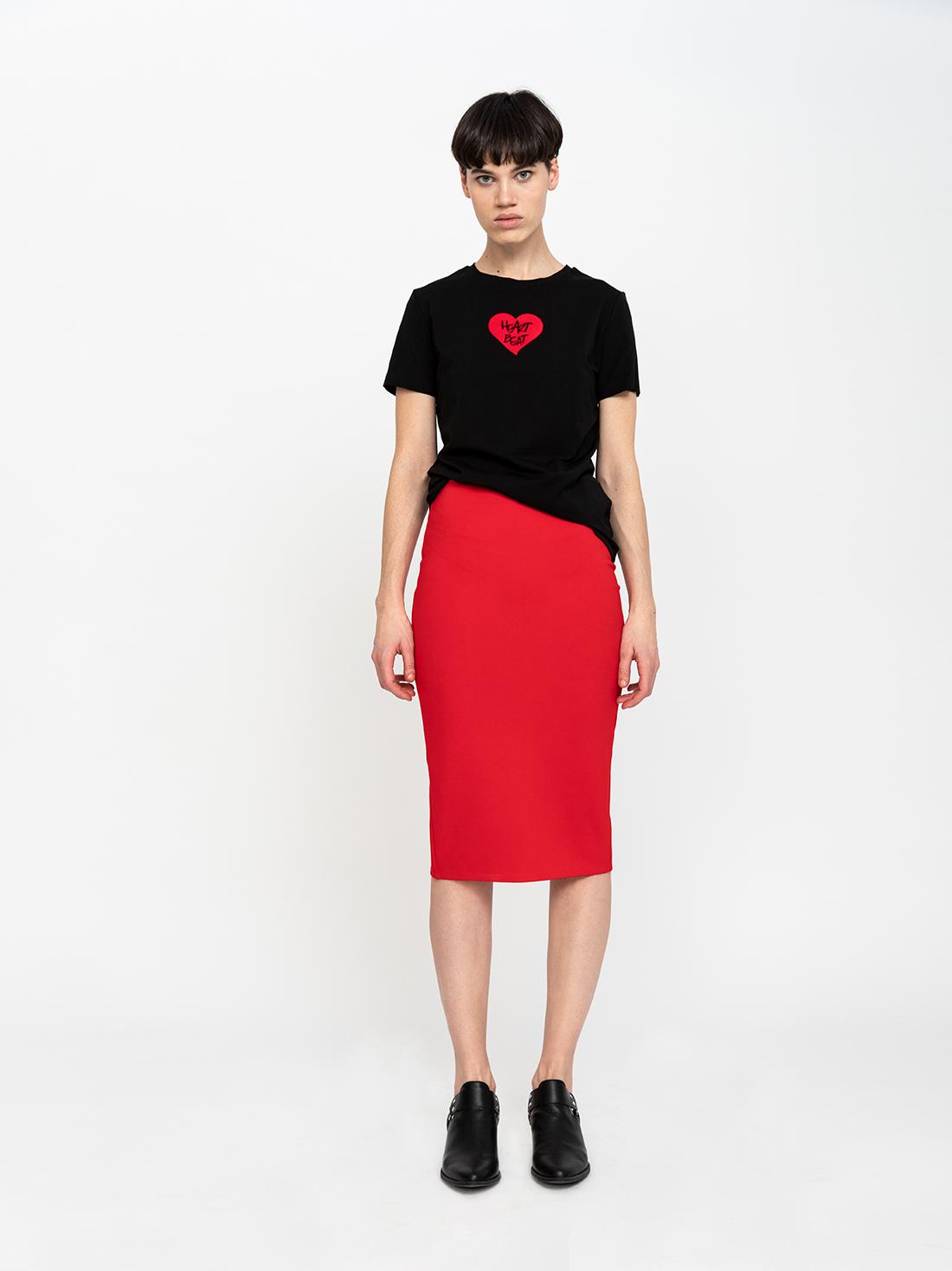 85dfd021f46 Черная юбка-карандаш — купить в интернет-магазине LIME с доставкой ...