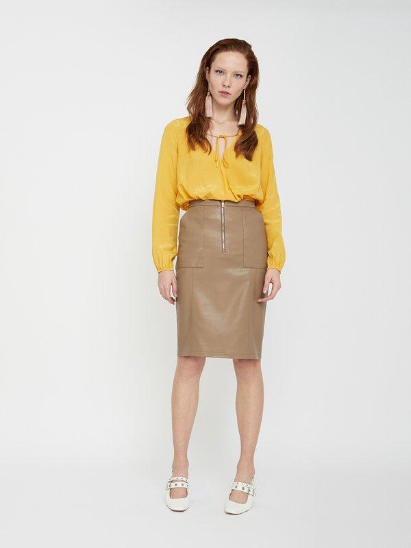 юбка цвет: карамельный