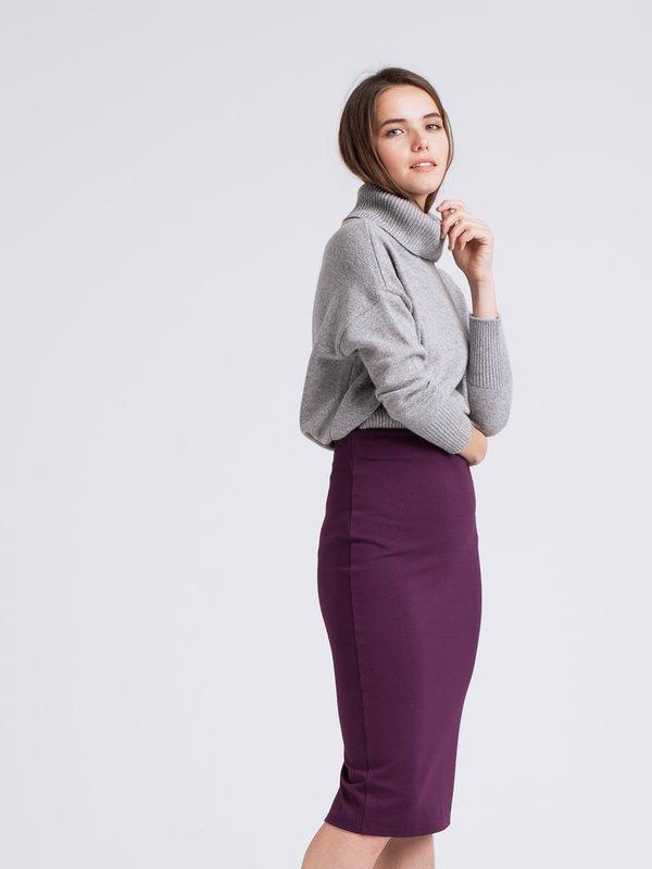 Юбка-карандаш  цвет: темно-фиолетовый