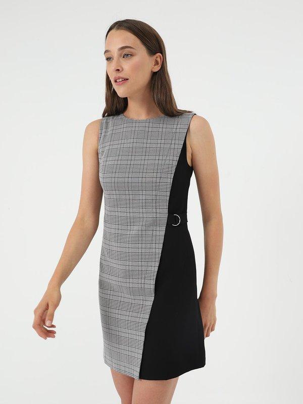 Платье из комбинированной ткани