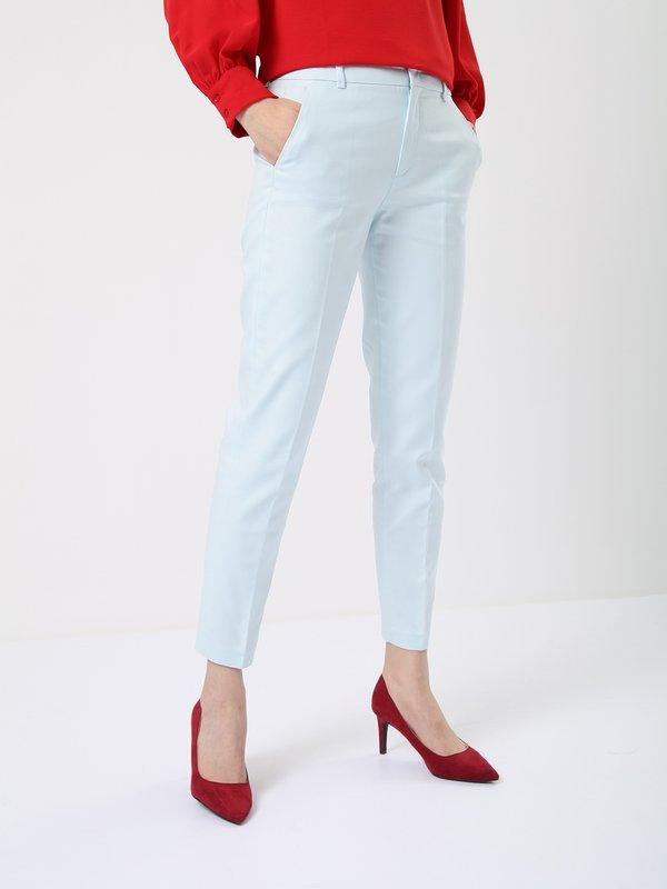 Укороченные брюки цвет: светло-голубой