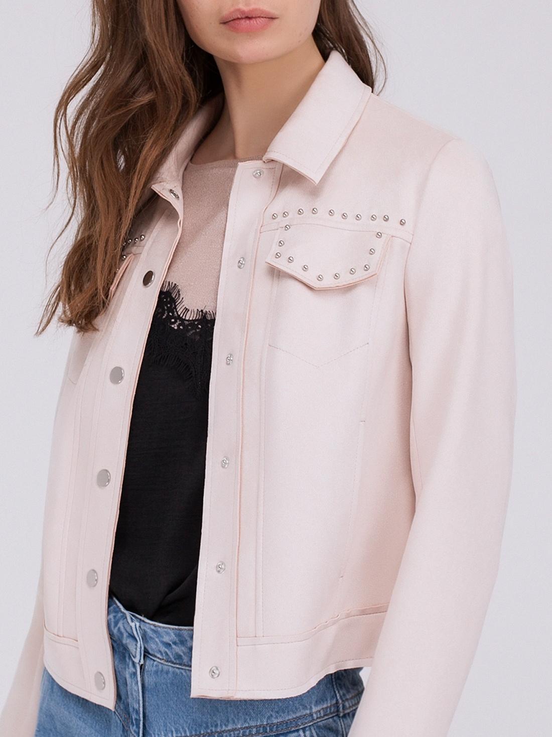 Куртка из замши с декоративными элементами
