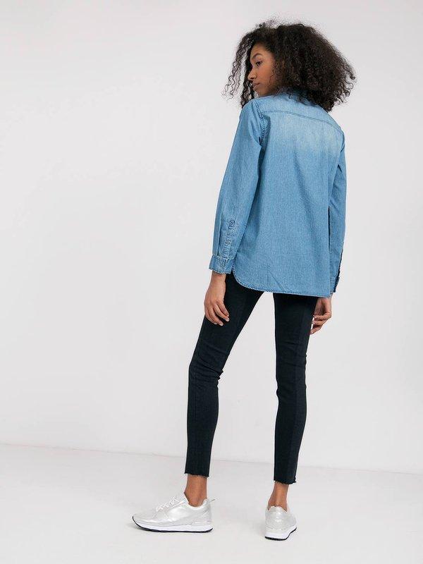 Двухцветные джинсы  вид сзади