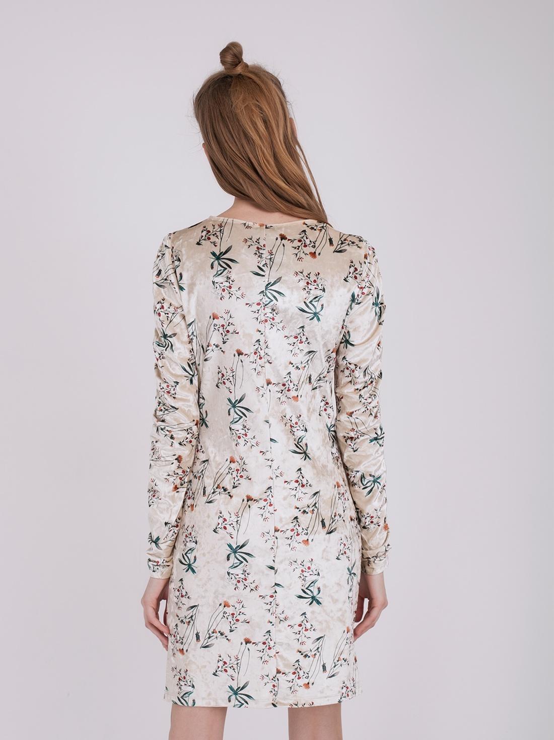 Платье с растительным принтом