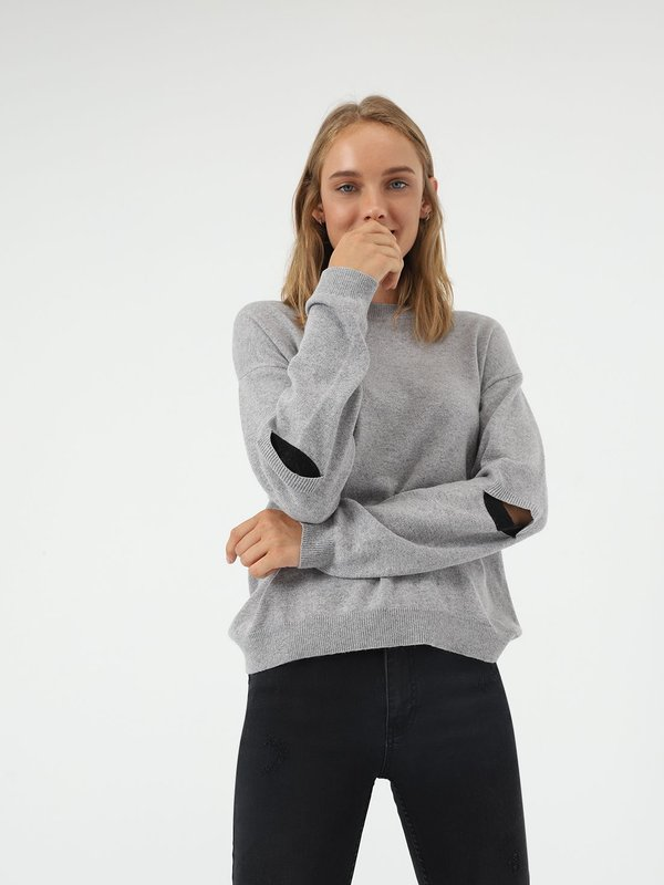 Свободный джемпер цвет: серый меланж
