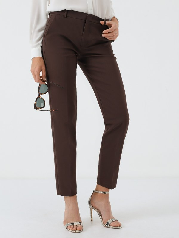 Классические брюки со стрелками цвет: коричневый