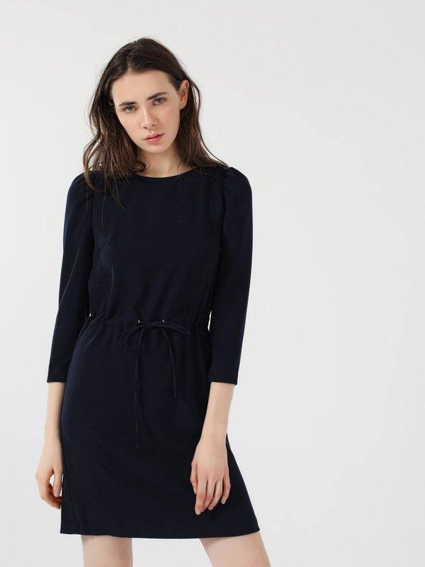 Платье с кулиской цвет: темно-синий