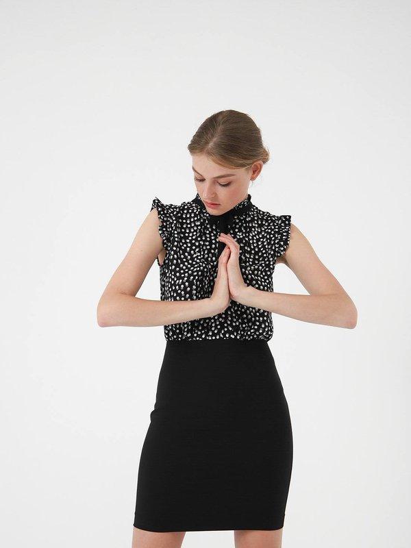 платье цвет: черный горох