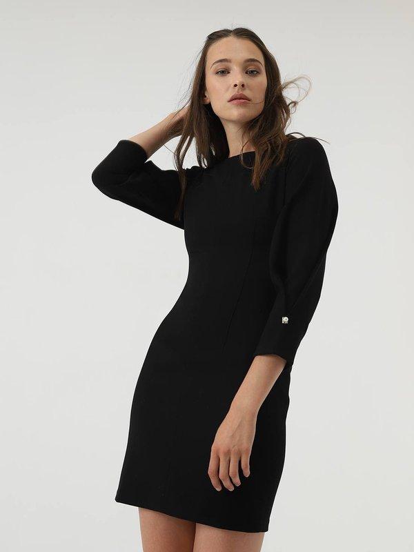Платье с декоративным элементом  цвет: черный