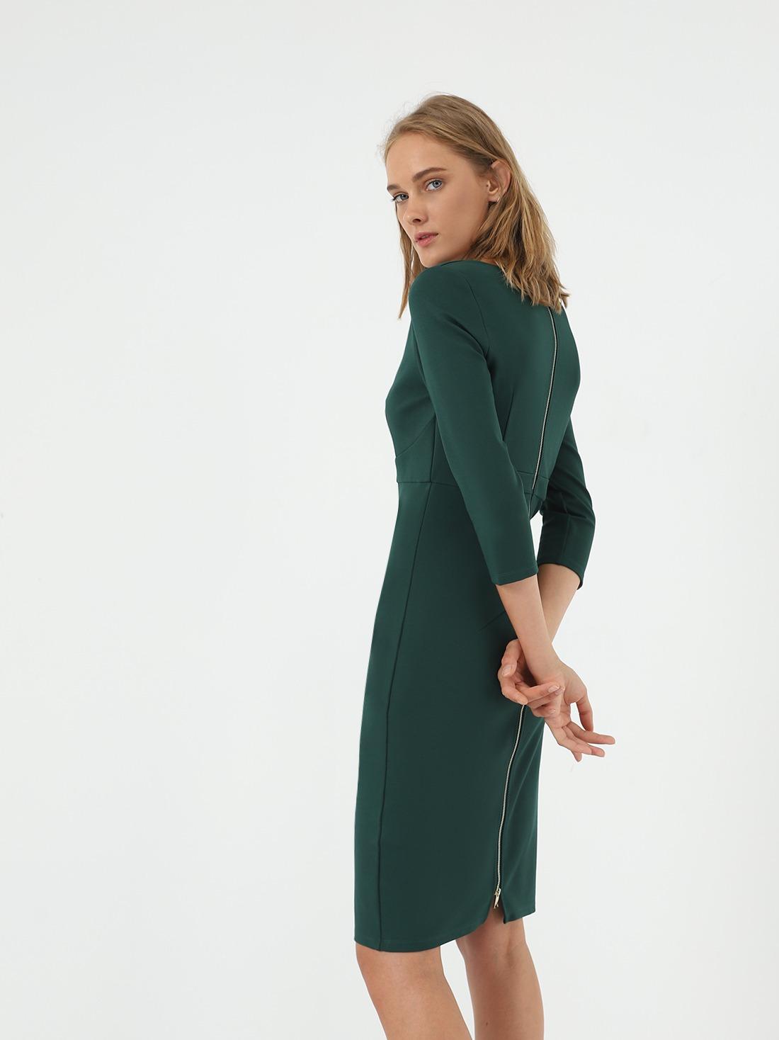 Платье - миди на молнии