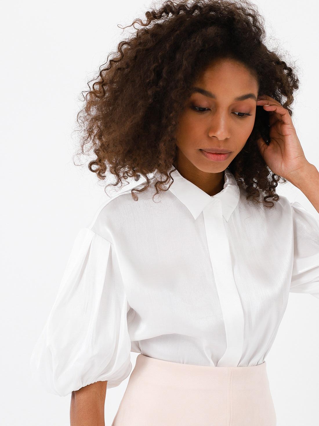 Рубашка с рукавом-фонарик