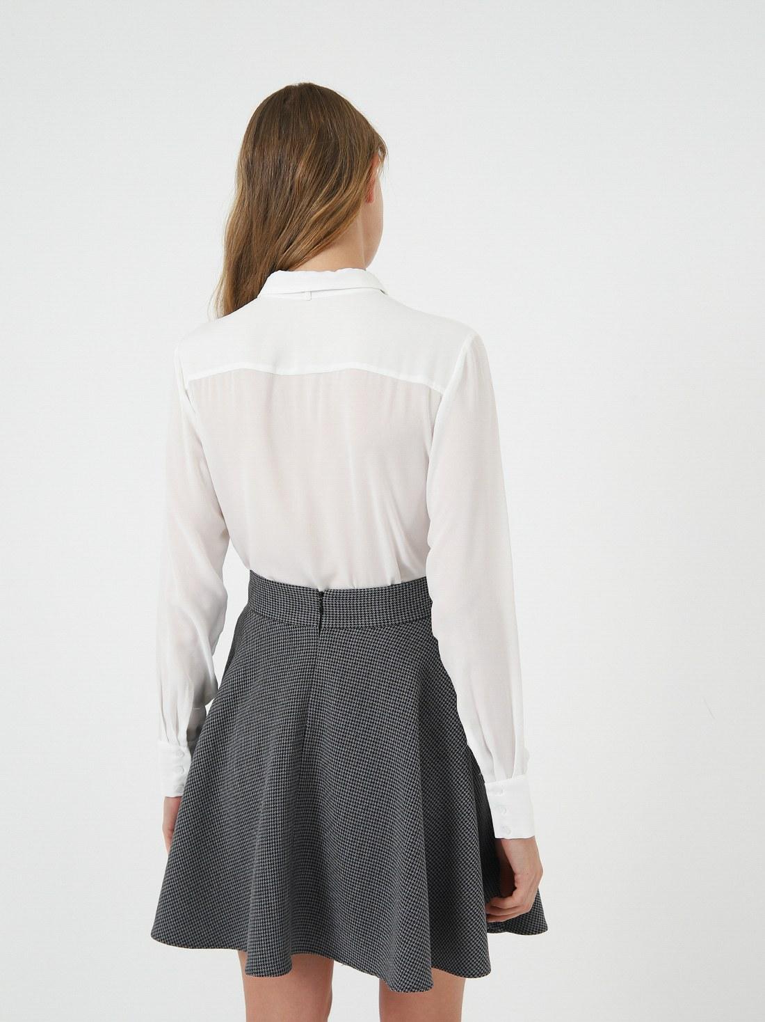Классическая рубашка с бантом