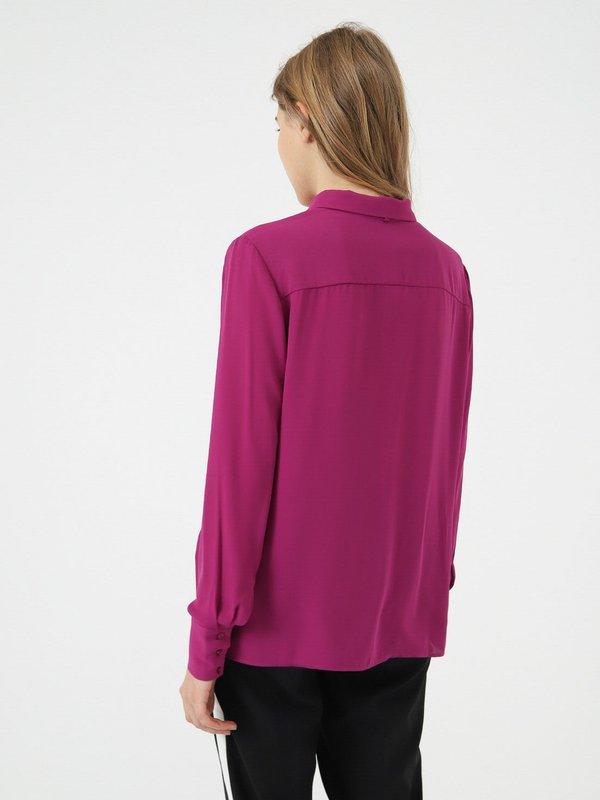 Классическая рубашка с бантом  вид сзади