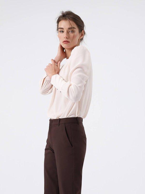 Блузка с длинным рукавом цвет: пудра