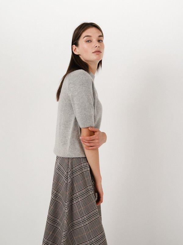 Свитер с коротким рукавом  цвет: серый меланж