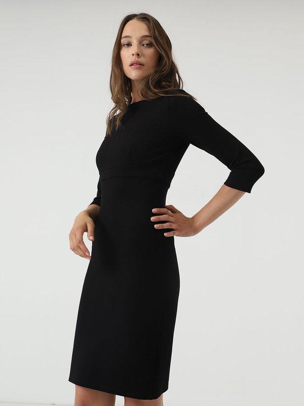 Платье - миди на молнии цвет: черный